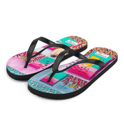 Colorful unique flip-flops - vivid and bold beachwear by Somejam - My little raft - Flip-Flops