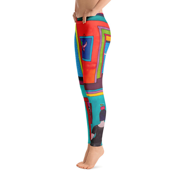 Bold and vivid leggings - colorful and garish yoga pants by Somejam - Hope dies last - Basic Legging