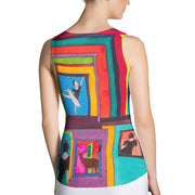 Bold and colorful tank top - striking and garish women shirts by Somejam - Hope dies last - Tank Top