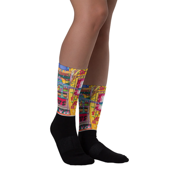 Colorful bold socks - vivid and colorful summer clothes by Somejam - Bed of the river - Socks