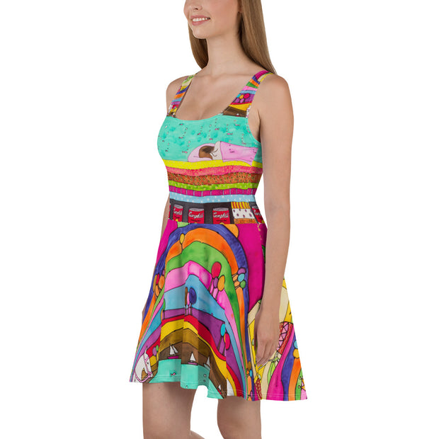 Bold and vivid Summer Dress - colorful and garish summer clothes by Somejam - The Princess and the Pea - Skater Dress