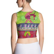 Colorful and bold crop top - striking and flashy women shirts by Somejam - Asimmetry in Simmetry - Crop Top