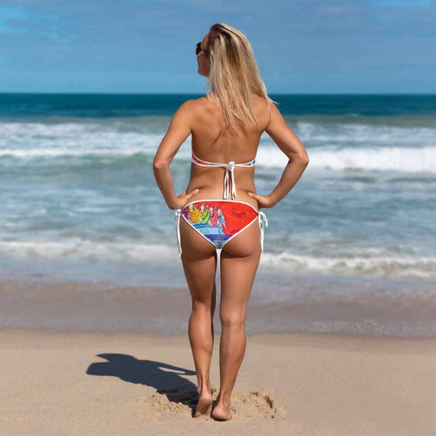 Unique and reversible bikini - colorful and vivid beachwear by Somejam - Don't jump - Bikini
