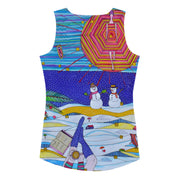 Bold and colorful tank top - striking and garish women shirts by Somejam - Make waves move mountains - Tank Top