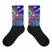 Colorful bold socks - vivid and colorful summer clothes by Somejam - I wish I was a Zebra - Socks