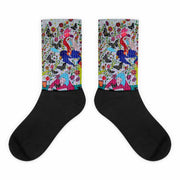 Colorful bold socks - vivid and colorful summer clothes by Somejam - I had to wait for my rider - Socks