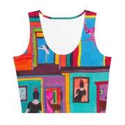 Colorful and bold crop top - striking and flashy women shirts by Somejam - Hope dies last - Crop Top