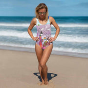 Vivid one-piece swimsuit - colorful and unique beachwear by Somejam - Show me your sorrow - Swimsuit