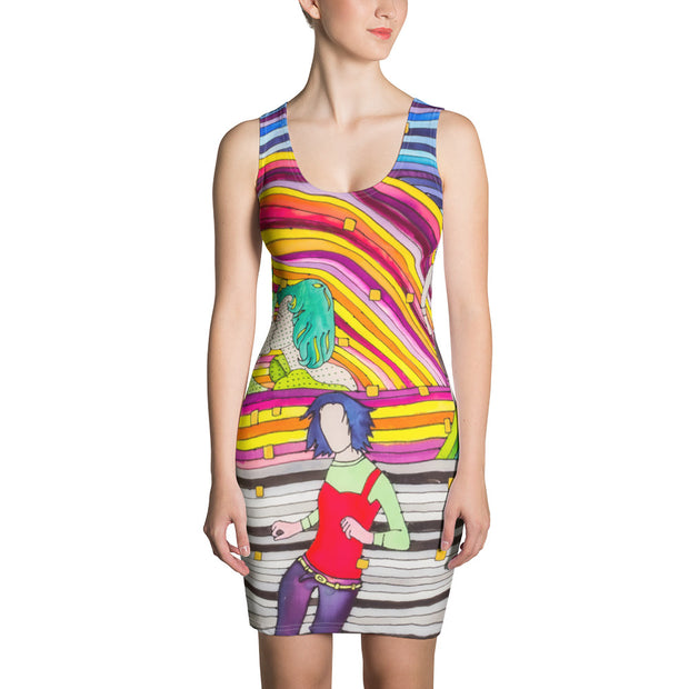 Colorful tight Summer Dress - vivid and garish summer clothes by Somejam - Hare and Hounds - Strait Dress