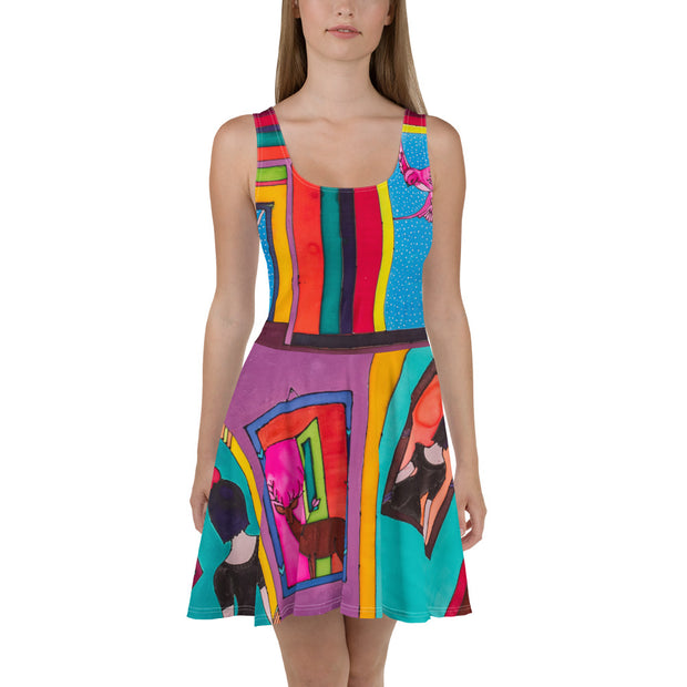 Bold and vivid Summer Dress - colorful and garish summer clothes by Somejam - Hope dies last - Skater Dress