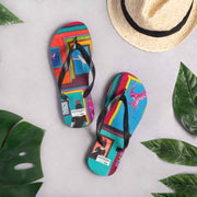 Colorful unique flip-flops - vivid and bold beachwear by Somejam - Hope dies last - Flip-Flops