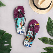 Colorful unique flip-flops - vivid and bold beachwear by Somejam - Bar for those who drink empty cups - Flip-Flops