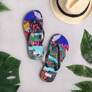Colorful unique flip-flops - vivid and bold beachwear by Somejam - The big IT - Flip-Flops