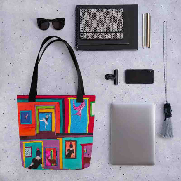 Unique and conspicuous tote bag - colorful and striking women clothing by Somejam - Hope dies last - Tote bag