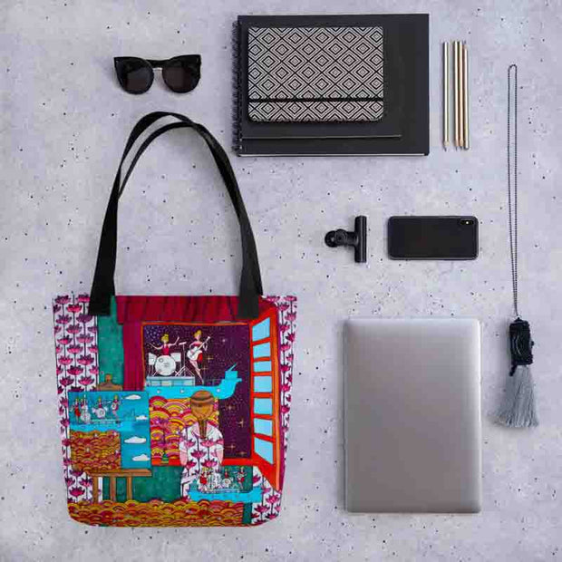 Unique and conspicuous tote bag - colorful and striking women clothing by Somejam - Fatally sweet - Tote bag