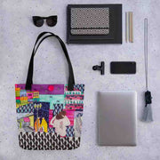Unique and conspicuous tote bag - colorful and striking women clothing by Somejam - Alone with myself - Tote bag