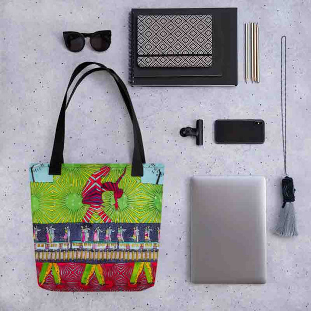 Unique and conspicuous tote bag - colorful and striking women clothing by Somejam - Asimmetry in Simmetry - Tote bag