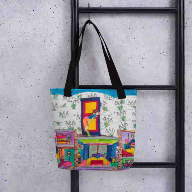 Unique and conspicuous tote bag - colorful and striking women clothing by Somejam - What do you see on the picture? - Tote bag
