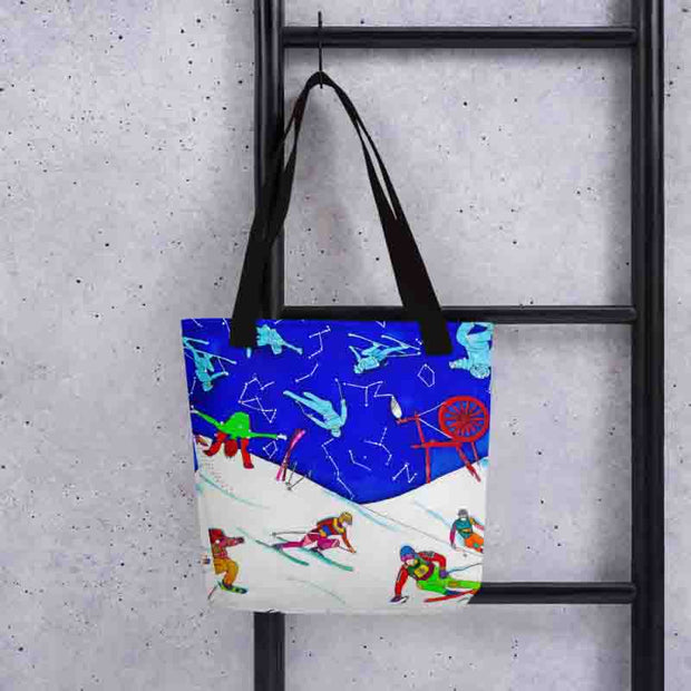 Unique and conspicuous tote bag - colorful and striking women clothing by Somejam - I have been a constellation - Tote bag
