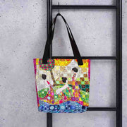 Unique and conspicuous tote bag - colorful and striking women clothing by Somejam - Amazons out of Amazonas - Tote bag