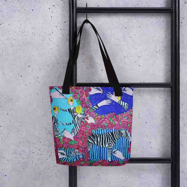 Unique and conspicuous tote bag - colorful and striking women clothing by Somejam - Pentecostal roller coaster - Tote bag