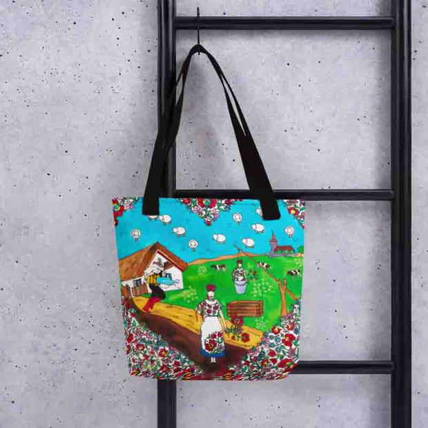 Unique and conspicuous tote bag - colorful and striking women clothing by Somejam - Mind – the wife of the heart - Tote bag