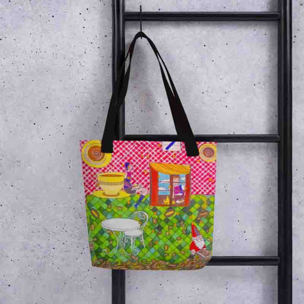 Unique and conspicuous tote bag - colorful and striking women clothing by Somejam - …is happiness - Tote bag