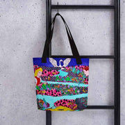 Unique and conspicuous tote bag - colorful and striking women clothing by Somejam - The big IT - Tote bag