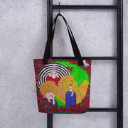 Unique and conspicuous tote bag - colorful and striking women clothing by Somejam - Du bist! - Tote bag
