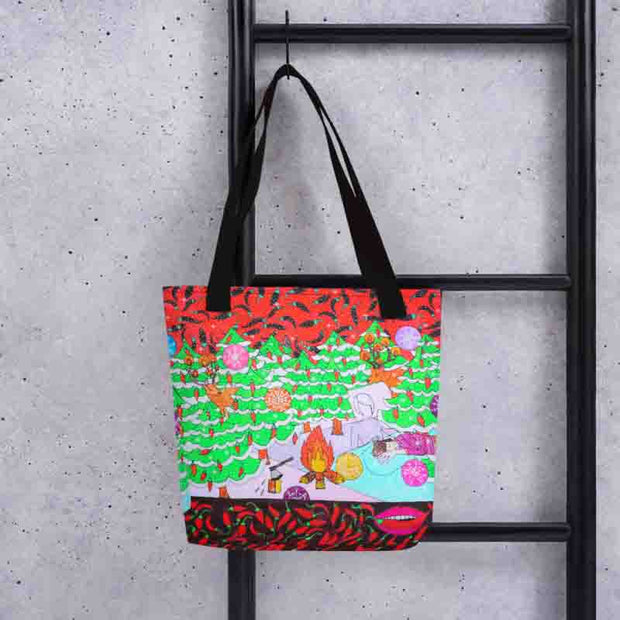Unique and conspicuous tote bag - colorful and striking women clothing by Somejam - Black is beautiful - Tote bag