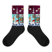 Colorful bold socks - vivid and colorful summer clothes by Somejam - Bar for those who drink empty cups - Socks