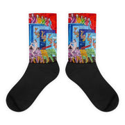 Colorful bold socks - vivid and colorful summer clothes by Somejam - Don't jump - Socks
