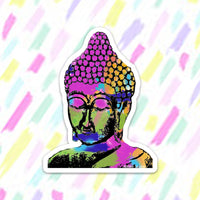Buddha Head Sticker