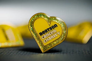 Beatson Cancer Charity Heart shaped pin badge