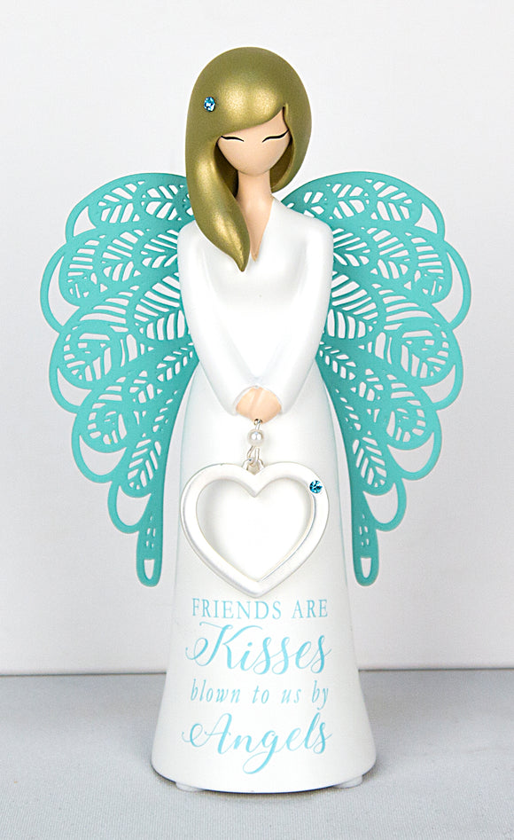 Angel Figurine - Friends are angel kisses