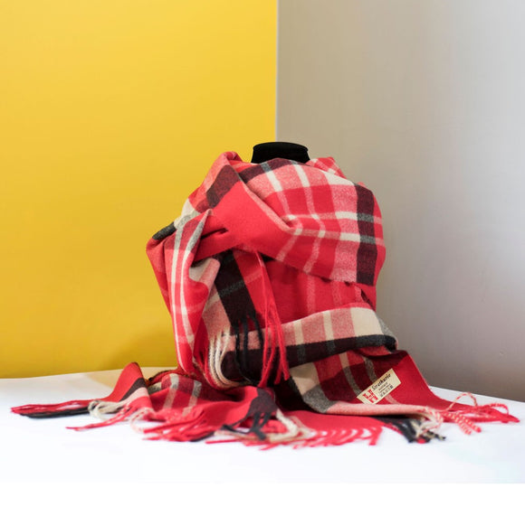 Strathurie Check Scarf - Red
