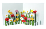 Pop up card - Mixed wild flowers