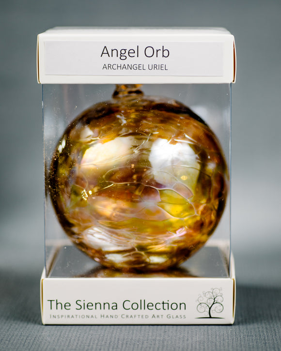Sienna Glass Angel Orb - Uriel/Amber