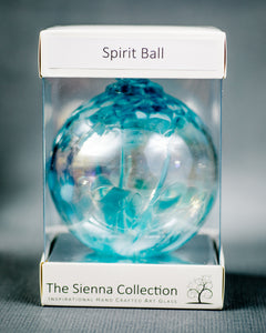 Sienna Glass Spirit Ball - Pastel Blue