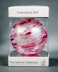Sienna Glass Friendship Orb - Pastel pink