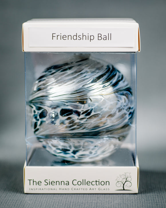 Sienna Glass Friendship Orb - Pastel Silver