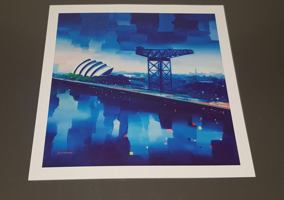Art greeting card- Finnieston crane