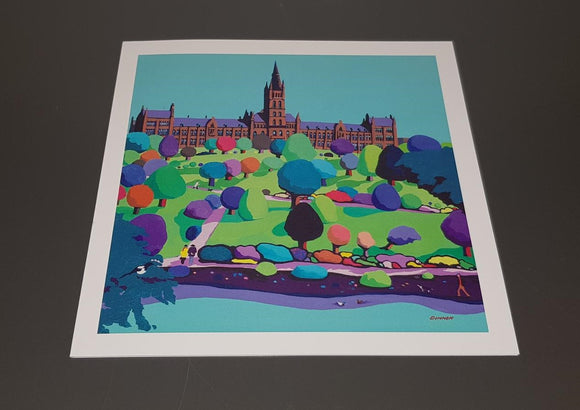 Art greetings card - Glasgow University