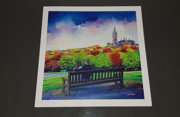 Art greeting card - Kelvingrove Park
