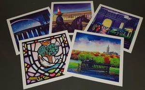 Art greetings cards - Set of 5 Iconic landmarks