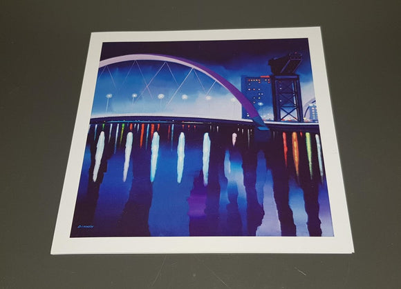 Art greetings card - The Squinty Bridge