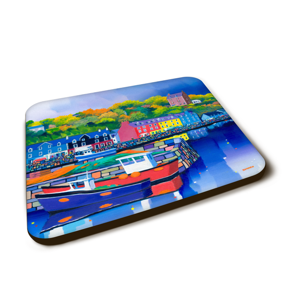 Art coaster - Tobermory harbour