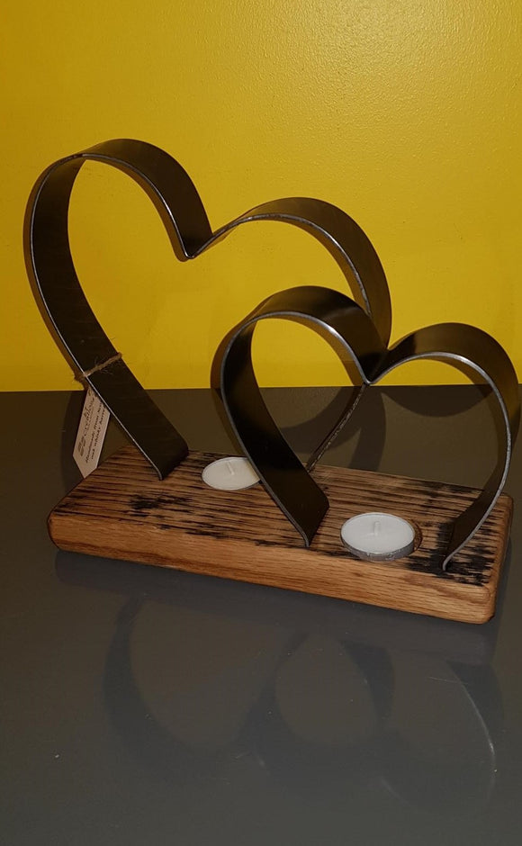 Twin tealight holder