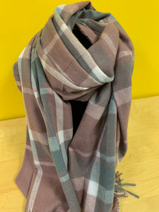 Strathurie large  check scarf pink