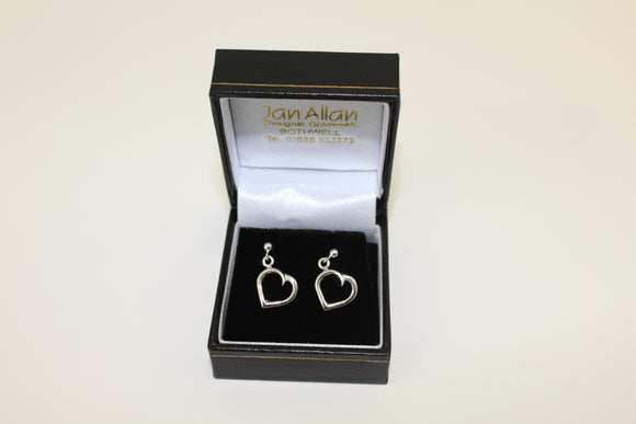 Bespoke Beatson Cancer Charity Heart Drop Earrings
